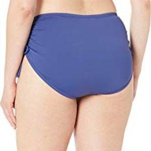 24th /& Ocean Womens Core Solids Mid Waist Side Tie Pant Bikini Bottom